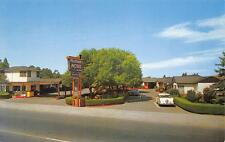 PELISSIER MOTEL Santa Rosa, California Mendocino Avenue Roadside Postcard c1950s