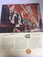 1936 Westinghouse Electric Company Vintage Print Ad Golden Jubilee Steel Flows