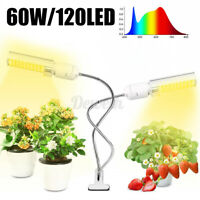 60W 120LED Plant Grow Light USB Lamps Memory Timing Full Spectrum Indoor Plant