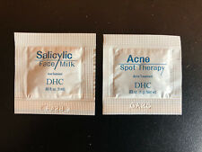 DHC Salicylic Face Milk & Acne Spot Therapy Sample Lot of 2