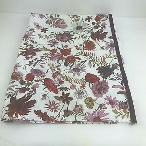 Creeping Floral Shower Curtain Burgundy/Pink/White - Threshold
