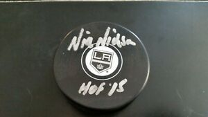 $5 DOLLAR AUTOGRAPH! NICK NICKSON SIGNED LOS ANGELES KINGS PUCK HOF INSCRIPTION