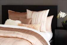 Donna Karan  ~ Awakening Blush ~ PAIR 2 EURO Pillow Shams ~ Luxurious Silk $428