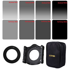 Zomei 8pcs Square Filters GND ND2+ND4+ND8+ND16+86mm Adapter Ring+Filter Holder