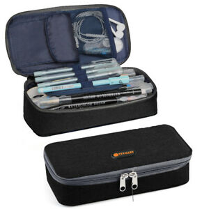 TTVALLEY Pencil Case Rectangular Pen Pouch Stationery Box Makeup Bag School Kids