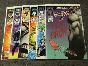 1994 MALIBU Comics BREED II #1-6 Complete Horror Series - JIM STARLIN - VF/MT