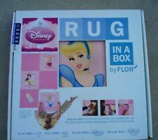 "NEW Flor Disney Princess Modular ""Rug in a Box"" Tile 3' x 5' NIB"