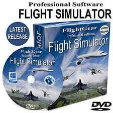 Flight Simulator Pro NEW 2018 Edition Flight Sim + Planes Windows 10/8/7 PC DVD