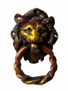 Lion Animal Shape Antique Vintage Finish Handmade Brass Door Knocker Home Decor