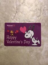 Walmart Valentines Day Snoopy Promo Gift Card Unused