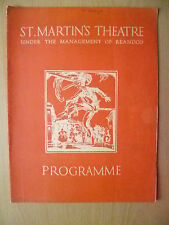 St. Martins Theatre Programme 1934- Alec L. Rea's THE WIND AND THE RAIN- M Hodge
