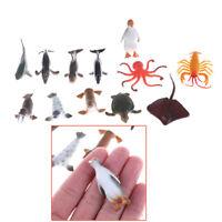 12pcs/set Plastic Marine Animal Model Toy Figure Ocean Creatures Animal toy、LJ