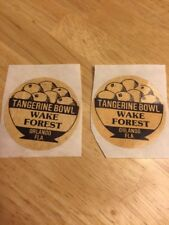 2 Wake Forest Demon Deacons 1979 Tangerine Bowl  Football Stickers