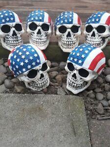 Skull mold latex/fiberglass new mold concrete mold Ready to ship