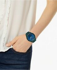 Michael Kors Women's Slim Runway Teal Stainless Steel Bracelet Watch MK4416