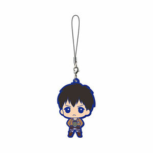 Attack on Titan Mascot Rubber Anime Strap Keychain Charm ~ Bertoit Hoover @29181