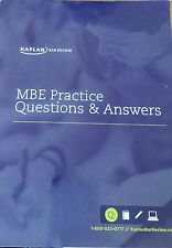 Kaplan Bar Review MBE Practice Questions & Answers - 2014