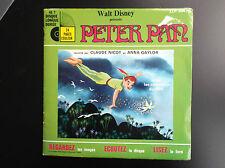 Livre Disque 45 T Peter Pan  Walt Disney BE