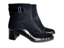 Women's Salvatore Ferragamo Black Ankle Boots, Sz 9 A