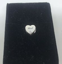 Authentic Pandora S925 Dad's Love Charm 796458CZ