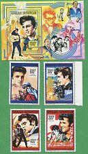 Elvis Presley Music Legends Souvenir Stamp Sheets 997-1001 Central Africa E13-17
