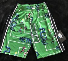 Flow Society Youth Green Anime Retro Athletic Soccer Lacrosse Shorts S