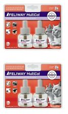 Feliway MULTICAT Diffuser - SET OF (2) 2 ct 48 mL 30 Day Refills x 4 = 120 days
