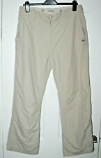 New listing WOMENS CRAGHOPPERS NOSQUITO HIKING TROUSERS LIGHT STONE UK 16