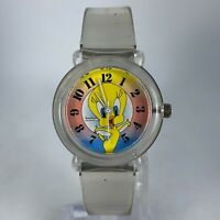 Armitron 1996 Womens 2200/104 Tweety Bird Quartz Analog Wristwatch Clear Plastic