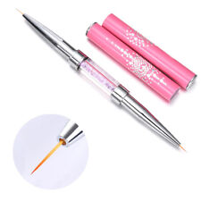 Double-ended Nail Art Liner Painting Drawing Pen Brush 5mm/7mm Rhinestone Handle