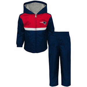 New England Patriots NFL Toddler Boy's Full-Zip Track Jacket & Pants Set: 2T-4T
