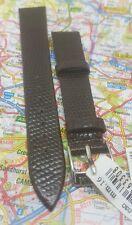 Morellato lucertola marrone in pelle 16MM Watch Strap Band Fibbia D'Argento Tono