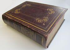 1845 Impérial famille BIBLE ANTIQUE 19th siècle W/GRAVURES victorien wm.jessop