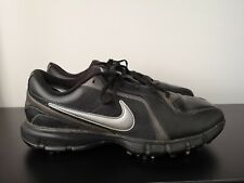 Mens Nike Golf Black Leather Golf Shoes - UK 9