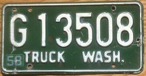 1958 Washington License Plate Number Tag