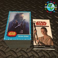 2017 TOPPS STAR WARS JOURNEY TO THE LAST JEDI 110-CARD BLUE BASE SET & WRAPPER