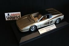 Bburago built transkit Ferrari Testarossa Cabrio 1:18 gold, closed (PJBB)