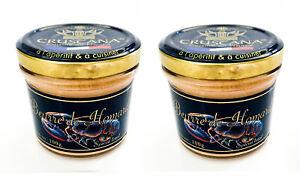 Hummer Butter Beurre Homard 2x 100g Glas Butter Frankreich Hummerbutter Cruscana