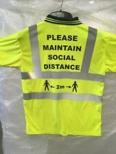 SAFE DISTANCE HI VIZ POLO SHIRT Yellow  XL 2m STAY SAFE