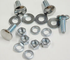 """4 GM 7/16""""-14x1 Stainless Steel Capped Pan Head Bumper Bolts w Nuts Lock Washers"""