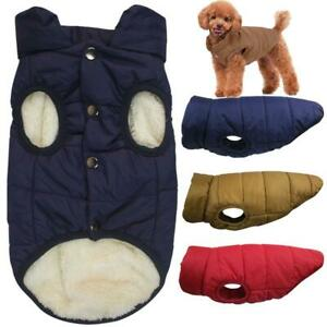 Winter Waterproof Padded Pet Dog Clothes Warm Fleece Lined Jacket Vest Coat
