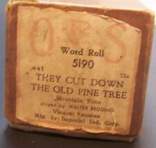 Player Piano Roll They Cut Down the Old Pine Tree ORS Word Roll 5190 Redding