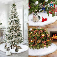 Gonna albero Natale Faux Fur Home Decorazioni natalizie per Ornament Party 75cm