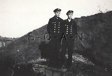 WWII GE Navy RP- Kriegsmarine- Sailor- Double Button Jacket- Hat- Location- 1944