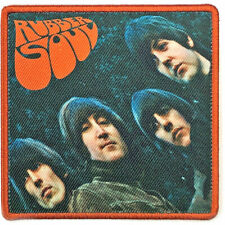 THE BEATLES RUBBER SOUL OFFICIAL LICENSED IRON ON PATCH ROCK BAND BADGE NEW