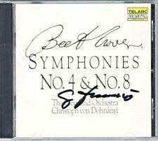 Christoph von DOHNANYI Signiert BEETHOVEN Symphony No.4 & 8 TELARC CD Sinfonie