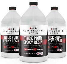 """2"""" THICK POUR EPOXY RESIN For ART CASTING & RIVER TABLES, SUPER CLEAR, 3 GALLON"""
