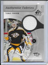 05-06 SP Game Used Tomas Vokoun Authentic Fabrics Jersey