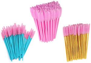 Baby Pink Mascara Wands Eyelash Applicator Brush Disposable Eyebrow Brush UK