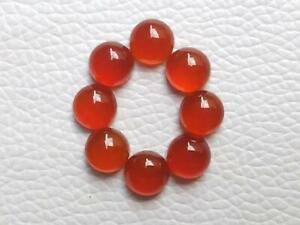 50 Pcs Mix Natural Red Onyx 3mm To 10mm Round Cabochon Loose Gemstone